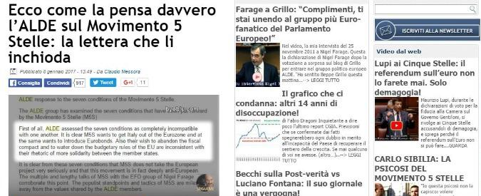 """M5s Europa, l'ex Messora pubblica la lettera di Alde: """"Populista e anti-Euro, impossibile allearsi con Grillo"""""""