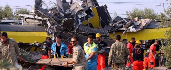 Scontro treni Puglia, 'sostegno economico a famiglie delle vittime entro fine mese'