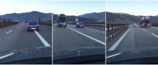 In autostrada come una pallina da flipper: manovre folli sull'A22