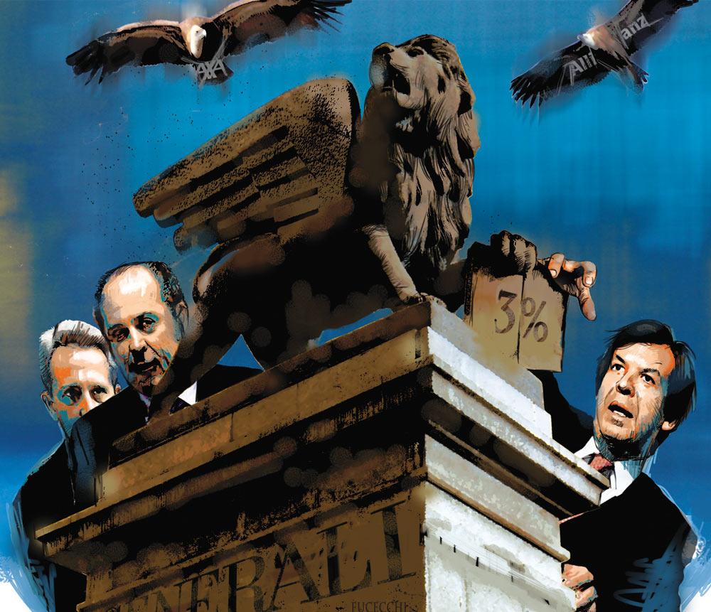 Operazione Generali, secondo la Borsa, Intesa punta al controllo di Mediobanca