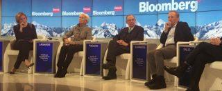 """World economic forum, Padoan: """"I nostri problemi nascono a Bruxelles e Francoforte. Alimentano il populismo"""""""