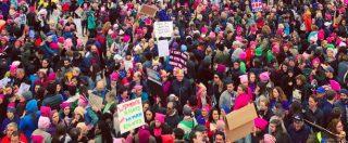 """Marcia delle donne, milioni in piazza contro Trump. Gli slogan: """"Bullo e razzista, siamo più forti della paura"""""""