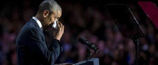 Obama, ultimo discorso agli Usa: doveva essere una festa, è stata una messa in guardia dai rischi per la democrazia