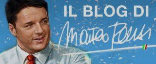 """Pd, il ritorno di Renzi con un blog: """"Il futuro torna, basta col passato"""". E attacca l'Ue: """"Ridicole le letterine sul deficit"""""""