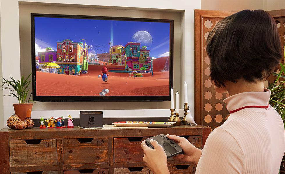 sullo schermo Super Mario Odissey