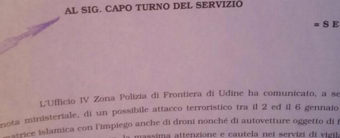 Terrorismo, diffonde audio su rischio attentati: indagata per procurato allarme Inchiesta anche su rivelazione di segreto