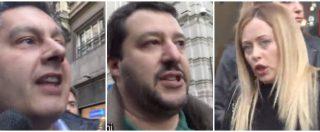 """Meloni e Salvini in piazza: """"Voto subito. I sondaggi sbagliano"""". Ma Toti: """"Rischio paralisi meglio nuova legge"""""""