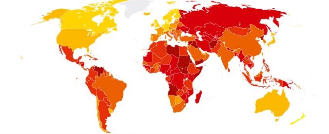 Rapporto Transparency 2016, l'Italia migliora per livello di corruzione percepita ma resta terzultima in Europa