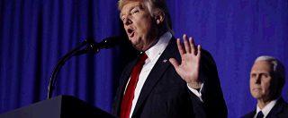 Usa, Trump firma l'ordine di costruzione del muro con il Messico. Immigrazione, ambiente e media: gli atti e i nemici del presidente