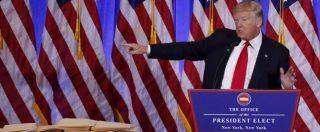 """Usa, Trump come Berlusconi: """"Con me record di posti di lavoro. Mie aziende? Ai figli"""". E litiga con la Cnn: """"Fake news"""""""
