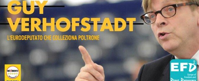"M5s, le accuse dei pentastellati a Verhofstadt: ""Impresentabile. Colleziona poltrone e incarna l'euroStatocentrismo"""