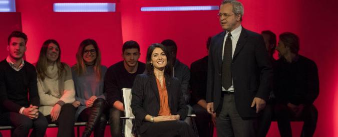 Mentana porta Raggi in studio per spiegare il caso polizze. E posiziona La7 al centro dell'intero territorio politico in tv