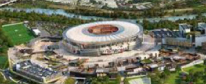 Stadio della Roma, ecco come sarà il nuovo impianto dei giallorossi – VIDEO