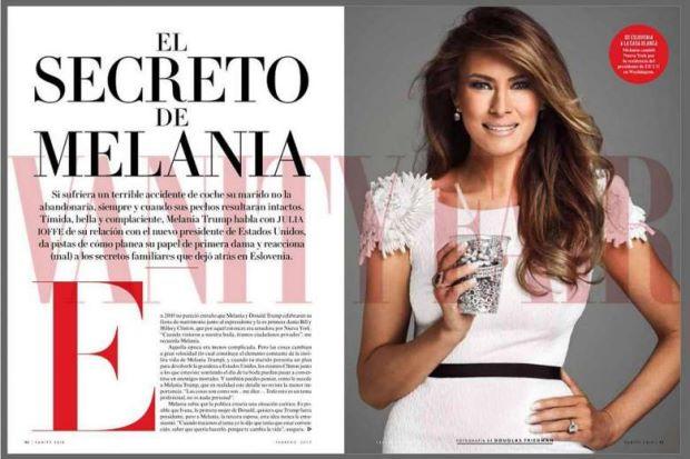 Un articolo di Vanity Fair Messico: Melania Trump definita 'la nuova Jackie Kennedy'