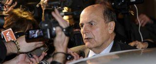 """Pd, Bersani: """"La scissione è già avvenuta, da Renzi solo dita negli occhi. Chi sta intorno a lui usi il buon senso"""""""