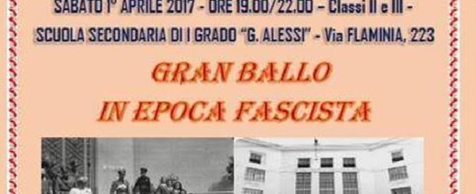 """""""Gran Ballo Fascista"""" a Roma, com'è possibile che quella preside fosse ancora lì?"""