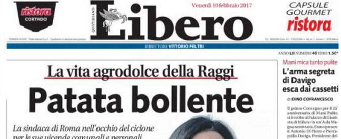 Virginia Raggi, su Libero è 'Patata bollente': l'indifferenza delle donne è il vero sessismo