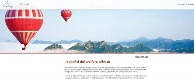 """Pensioni, il Tesoro socio dei fondi di banche e assicurazioni. E lancia portale sui """"benefici del welfare privato"""""""
