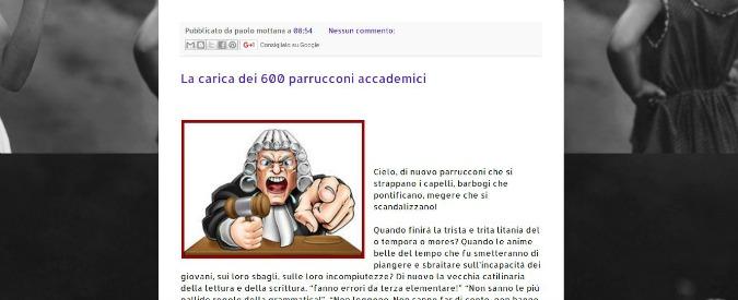 """Scuola, il docente contro l'appello dei 600 colleghi: """"Studenti scrivono male? Parrucconi. È l'università che è cambiata"""""""