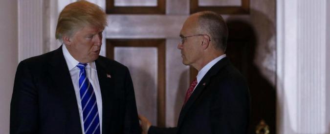 Usa, squadra di Trump perde altri pezzi: lascia il manager dei fast food Puzder. Doveva essere ministro del Lavoro