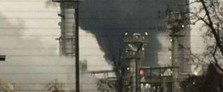 Pavia, incendio nella raffineria Eni di Sannazzaro de' Burgondi