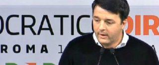 """Direzione Pd, Renzi: """"Accetto il congresso. Se deve essere scissione niente alibi"""""""