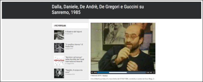 Festival di Sanremo 2017, cosa ne pensavano i cantautori nell'85