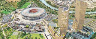 Stadio Roma, la nuova ipotesi: piccolo spostamento e riduzione delle cubature. Se il club dice no, pronte tre alternative