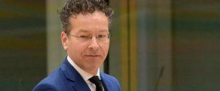 """Manovra, Dijsselbloem: """"Se l'Italia perde accesso ai mercati finanziari l'Europa non sarà in grado di salvarla"""""""