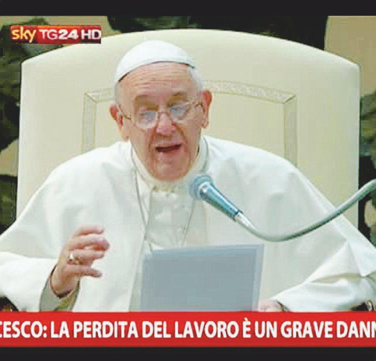 Sky nasconde il Papa che difende i lavoratori di Sky