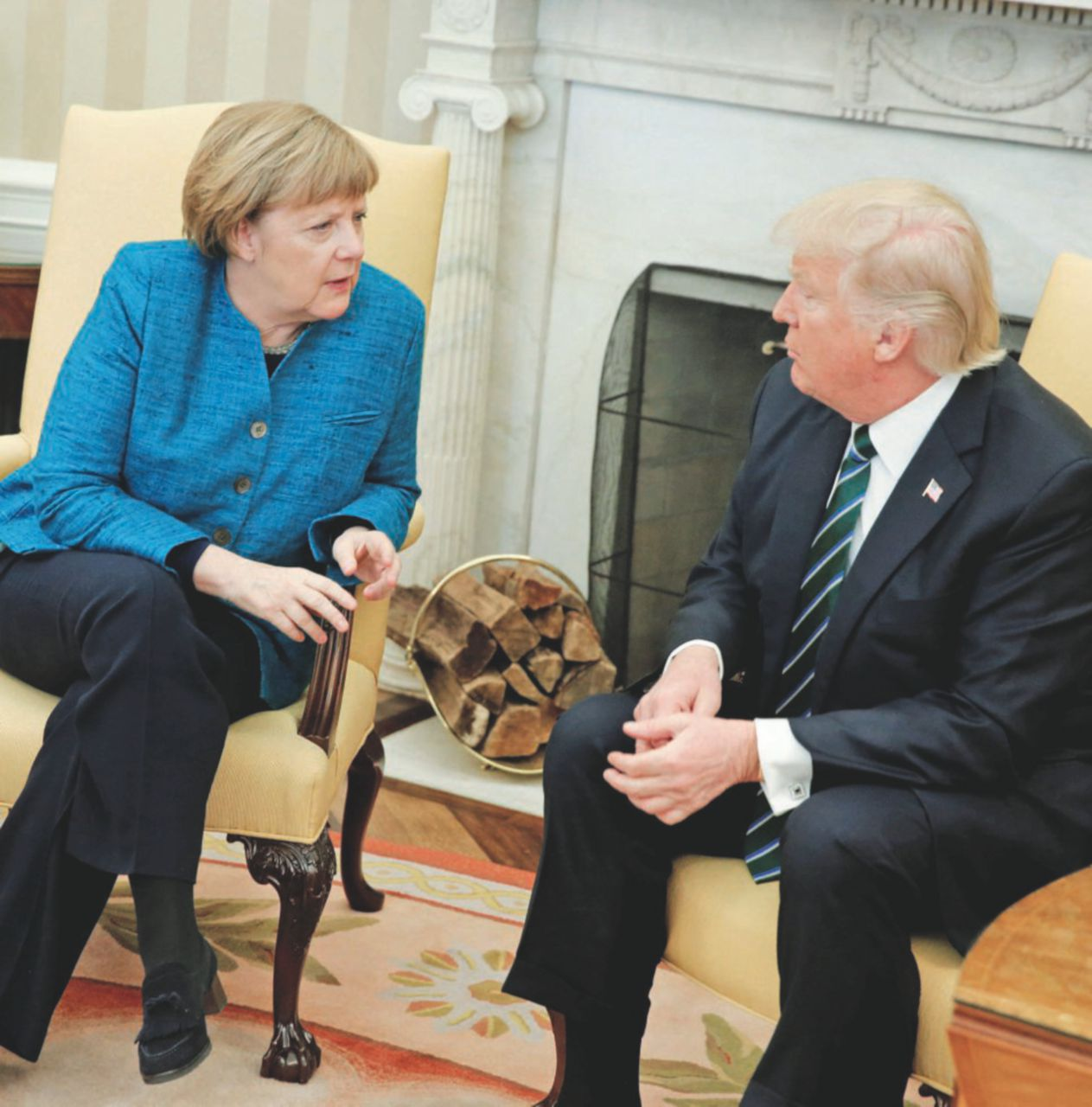 L'alleanza fredda: Trump gigioneggia con Frau Merkel