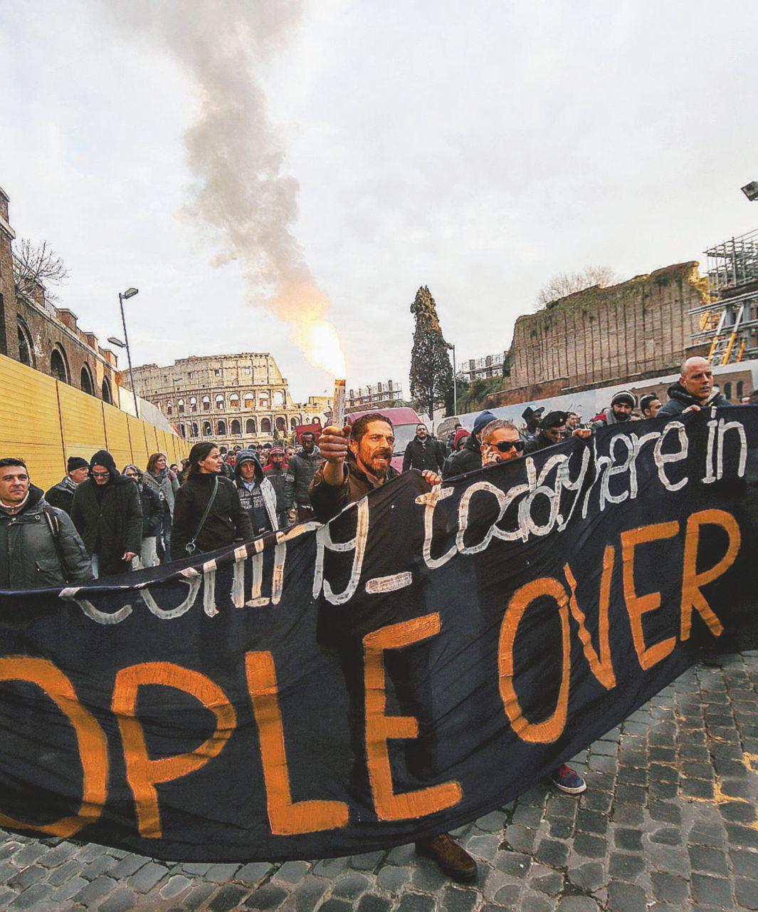 Arriva l'Europa e Roma si prepara al sabato nero