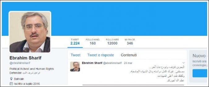 Bahrein: ancora una volta, per finire in carcere basta un tweet