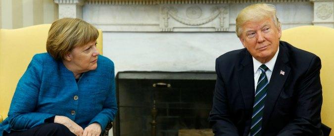 """Usa, Trump: """"Immigrazione non è un diritto"""". Merkel: """"Proteggere i rifugiati"""""""