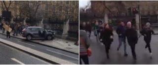 Attentato Londra, la gente che fugge poi gli spari. Paura a Westminster