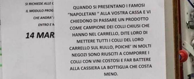 """Esselunga, polemiche sul cartello contro i """"truffatori napoletani"""". Il gruppo: """"Il responsabile già sospeso dal servizio"""""""