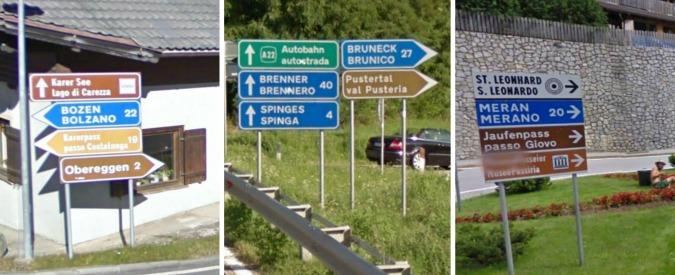 """Alto Adige, il dibattito sui nomi bilingui dei luoghi non finisce mai: comitati, trattative e accordi saltati. Svp: """"Ferita aperta"""""""