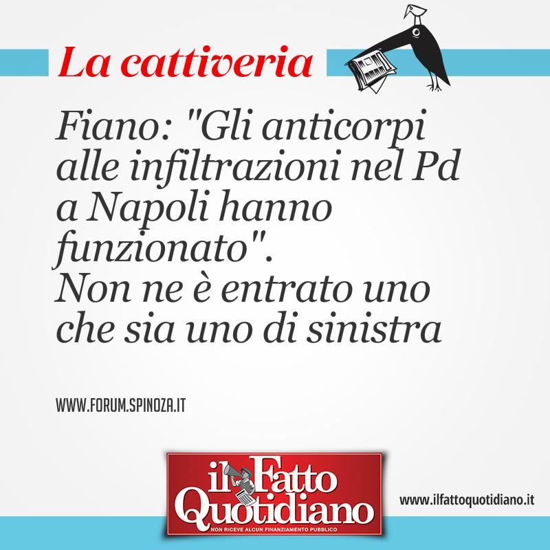 """Fiano: """"Gli anticorpi alle infiltrazioni nel Pd a Napoli hanno funzionato"""". Non ne è entrato uno che sia uno di sinistra"""