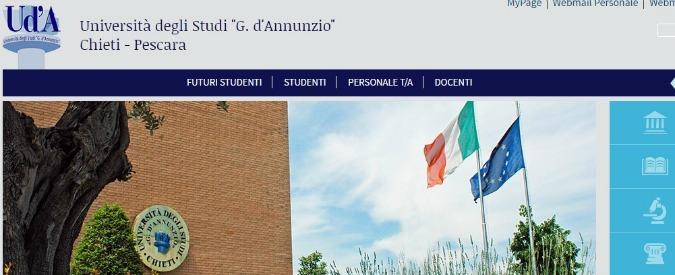 Università di Chieti-Pescara, interdetti per sei mesi rettore e direttore generale