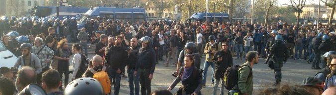 """Roma, 5mila alla manifestazione Eurostop: tensioni, ma nessun incidente. Questore: """"Allarme ingiustificato"""""""