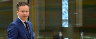 "Dijsselbloem, Renzi: ""Da bar sport le parole sui Paesi del Sud Europa. Si dimetta"". Berlino: ""Noi ci fidiamo di lui"""
