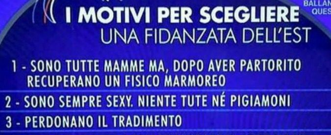 'Parliamone sabato': madre e puttana, la donna ideale vista in Rai
