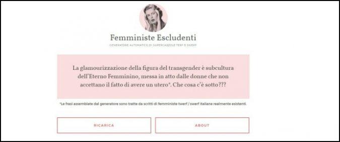 Femministe radicali, come funziona il generatore automatico delle loro supercazzole
