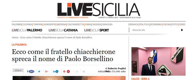 Salvatore Borsellino e le accuse disoneste di LiveSicilia