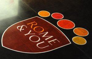 Il nuovo logo di Roma Capitale presentato dal sindaco di Roma Ignazio Marino al Museo Macro, 10 febbraio 2015. ANSA/ONORATI