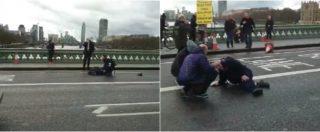 Attentato Londra, uomo armato di coltello tenta di irrompere al Parlamento. Feriti sul ponte di Westminster