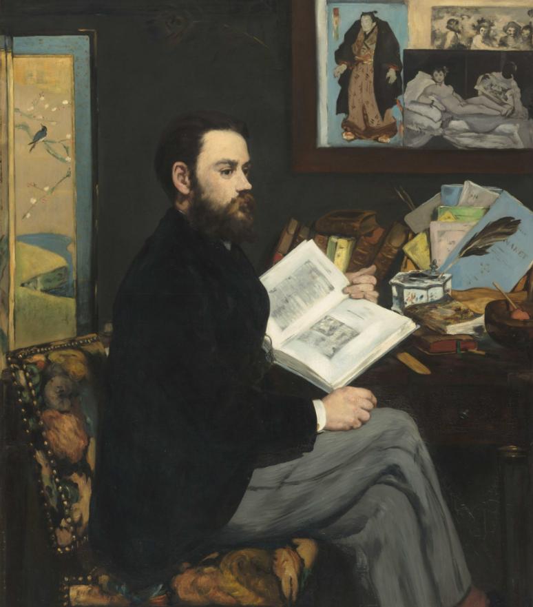 Édouard Manet Émile Zola, 1868Olio su tela, 146 x 114 cm Parigi, Musée d'Orsay © René-Gabriel Ojéda /  RMN-Réunion des Musées Nationaux/ distr. Alinari