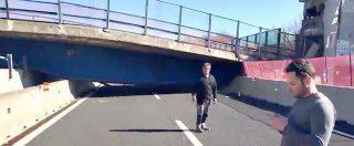 Crollo ponte A14, le immagini del cavalcavia 167 collassato. Che ha schiacciato due persone