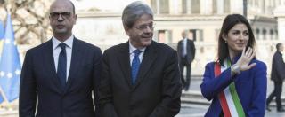 """Trattati Roma, il discorso della Raggi non è di rottura con l'Europa: """"Avventura straordinaria"""". M5s: """"Censura Tg1"""""""