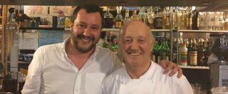 """Lodi, Salvini va a cena dal ristoratore indagato per aver ucciso un ladro: """"Sto con chi si difende"""""""